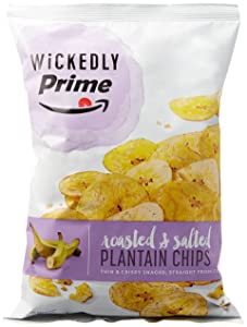 Wickedly Prime Plantain Chips, Roasted & Salted, 12 Ounce