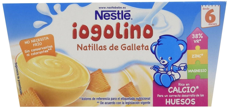 Nestlé iogolino Alimento infantil, natillas con galleta - Paquete de 4 x 100 gr - Total: 400 gr: Amazon.es: Alimentación y bebidas