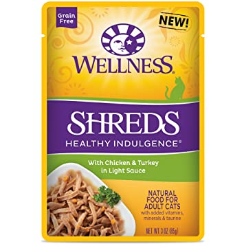 Wellness Healthy Indulgence Natural Grain Free Wet Cat Food, 3-Ounce Pouch  (Pack of 24)