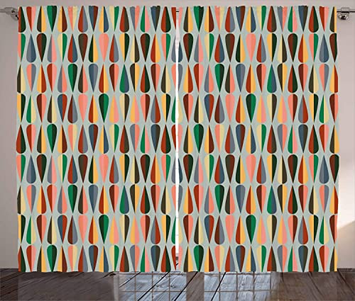 Ambesonne Mid Century Curtains
