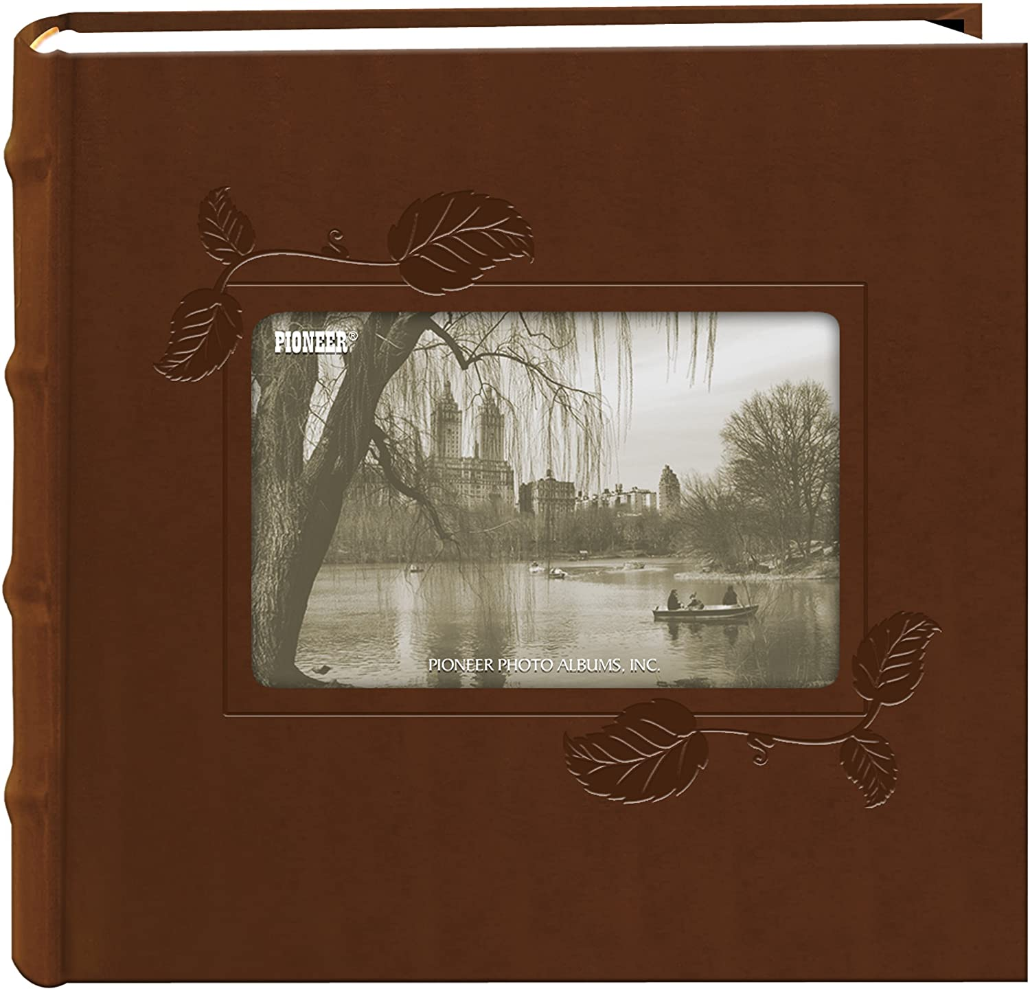 Pioneer Embossed Ivy Frame Leatherette Cover Photo Album, Brown
