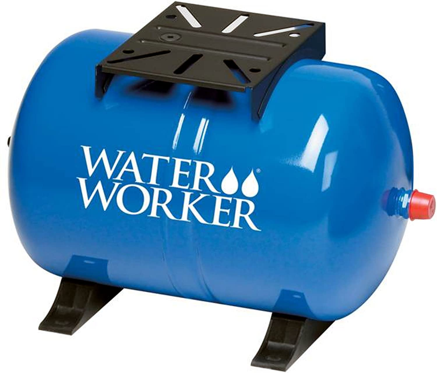 WaterWorker HT-14HB Water Worker Horizontal Pre-Charged Well Tank, 14 Gal, 1 In Mnpt, 100 Psi, Steel, Blue