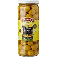 Borges Lemon Stuffed Green Olives, 450g