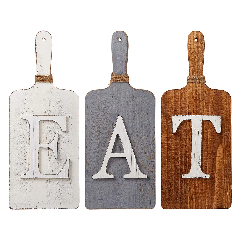 "Barnyard Designs Eat Sign Wall Decor Rustic Primitive Country Farmhouse Kitchen Home Decor Sign 15"" x 6"" (Each)"
