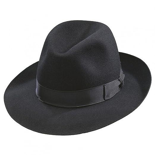 f65a77a43e2 Borsalino Como Fedora-Black at Amazon Men s Clothing store