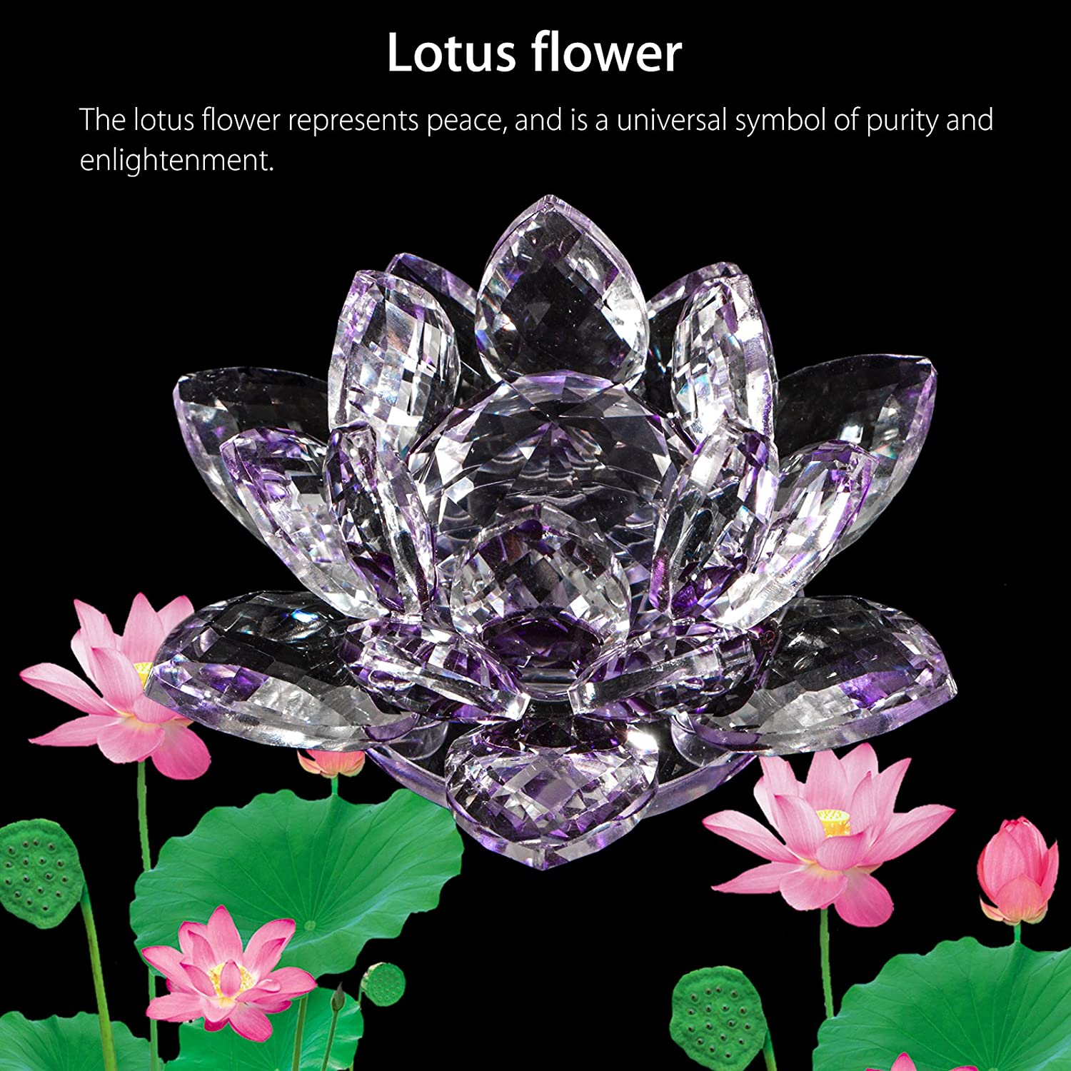 Amazon Eeekit Sparkle Crystal Lotus Flower Feng Shui Ornaments