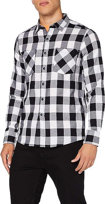 Build Your Brand Checked Flanell Shirt Camiseta para Hombre ...