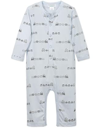 4bdb2bc8d Feather Baby Little Boys Pima Cotton Long Sleeve Long John Baby Romper, 0-3
