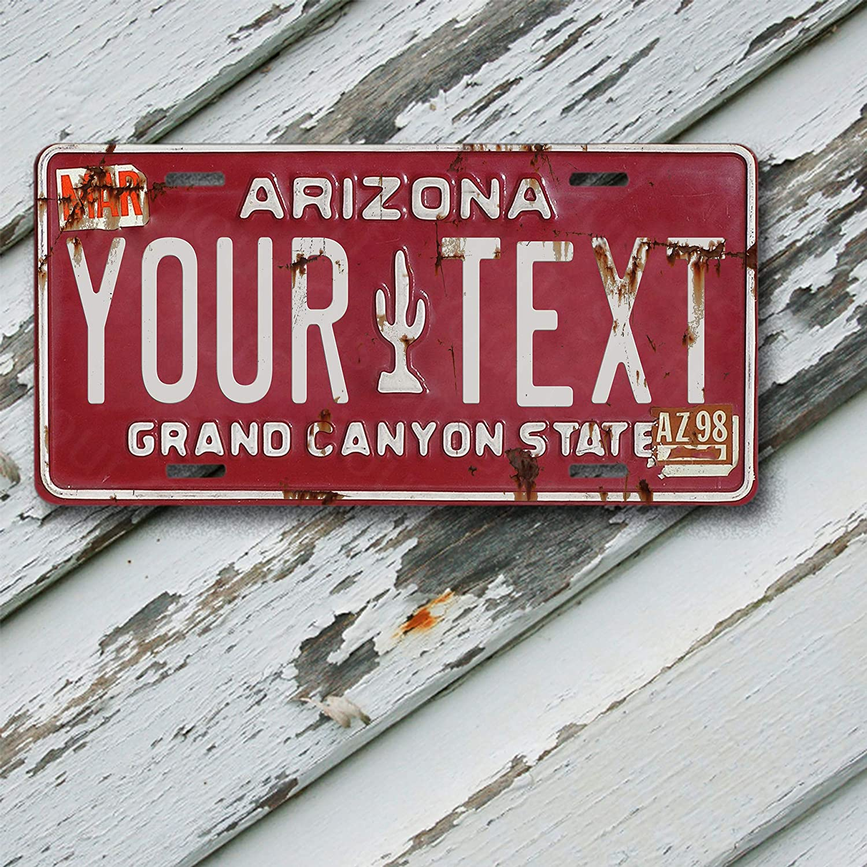 License Plate Arizona Wave 3 Antique Classic Customizable 6 x 12 Aluminum Vanity License Plate