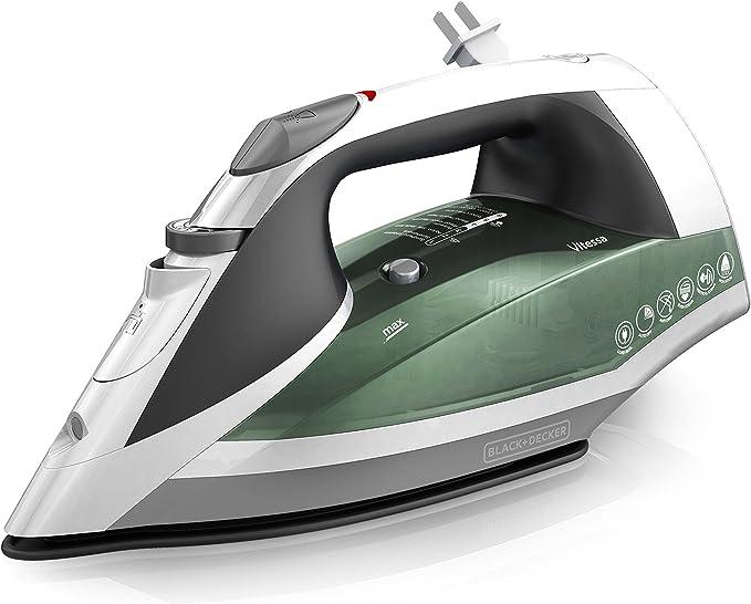 Amazon.com: BLACK+DECKER Vitessa Advanced Steam Iron with Retractable Cord, Nonstick Soleplate, Sage, ICR2020: Home & Kitchen