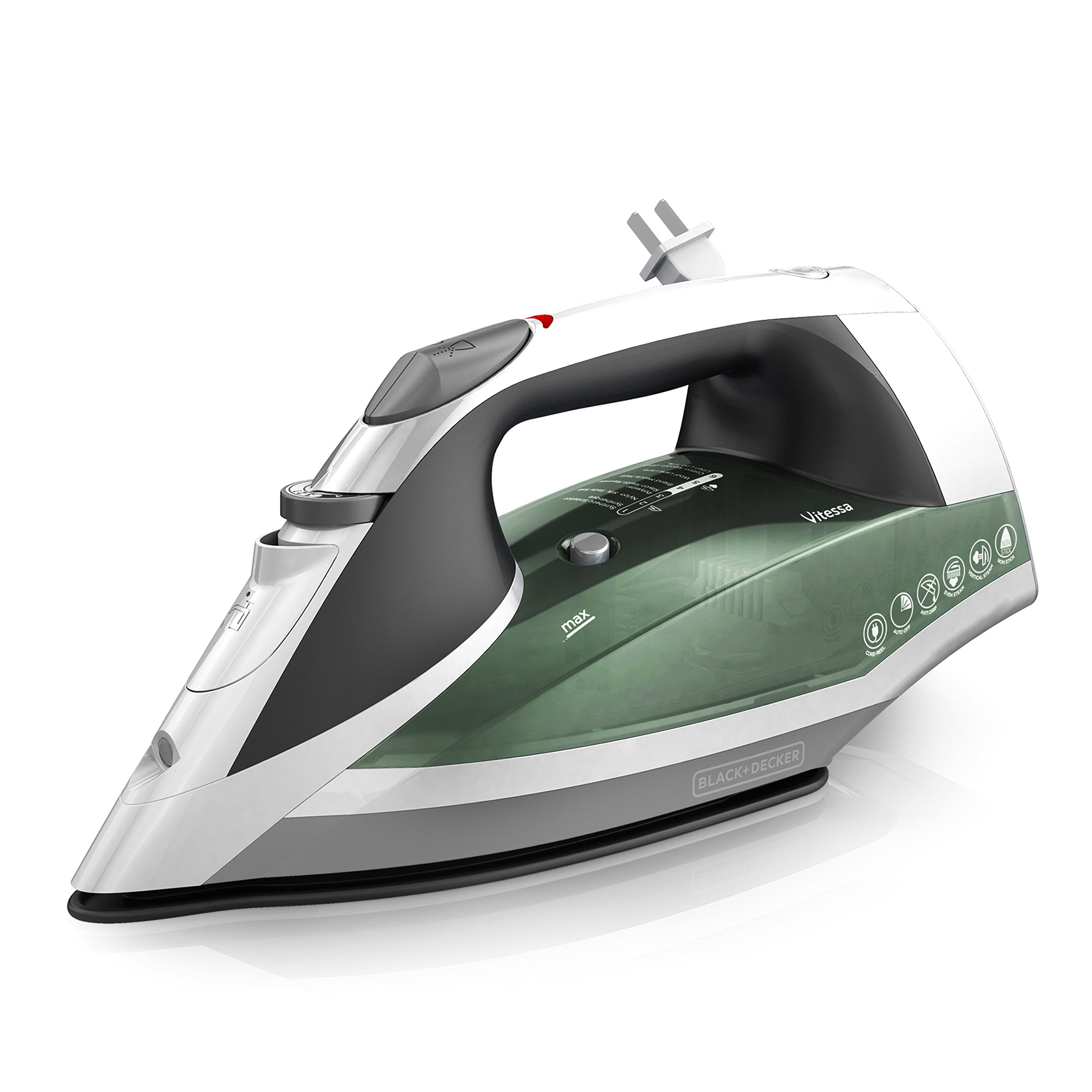 BLACK+DECKER Vitessa Advanced Steam Iron with Retractable Cord, Nonstick Soleplate, Sage, ICR2020