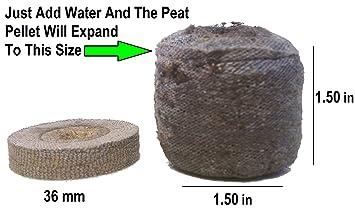 2.000 Jiffy 7 bolitas de turba 36 mm - Semillas partida - Jiffy turba pellet ayuda a evitar descargas raíz - 2.000 Jiffy turba Pellets 36 mm ~ Full Case: ...