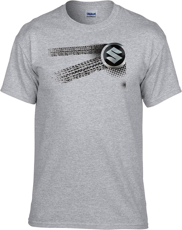 029 Auto Logo Car Fun T-Shirt Gris molda18 Suzuki