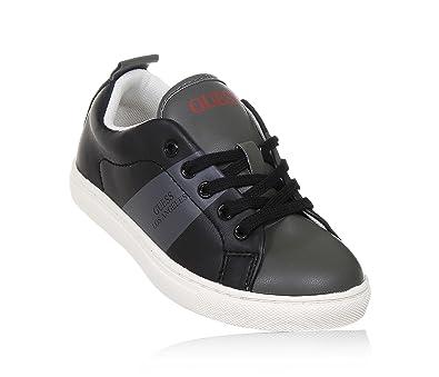 wähle authentisch mehr Fotos neueste trends GUESS - Schwarzer Schuh mit Schnürsenkeln aus Leder, Jungen ...
