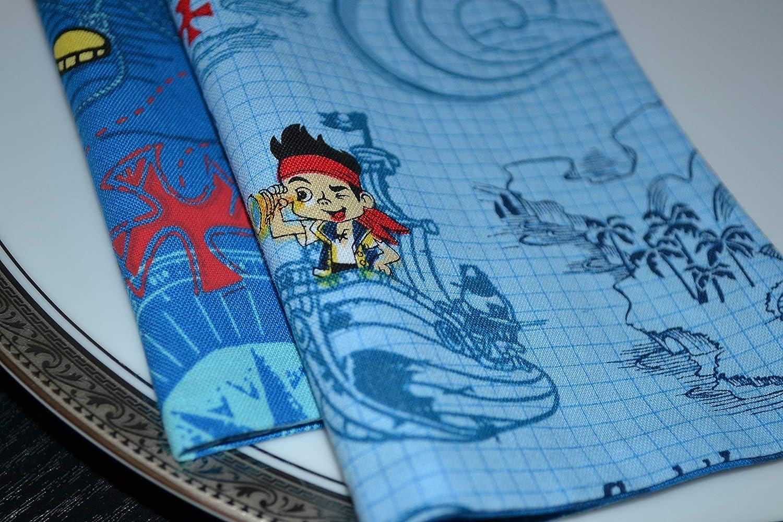 More Neverland Pirates Reversible Cloth Napkins//Set of 4
