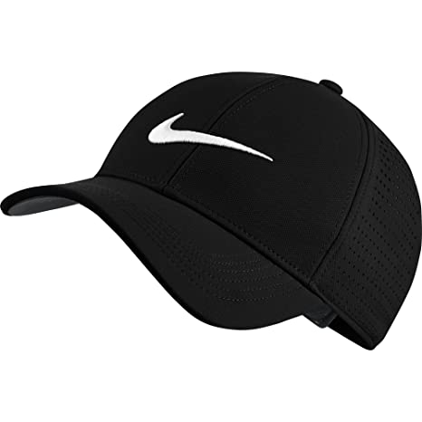 NIKE Unisex AeroBill Legacy 91 Perforated Golf Cap, Black/Anthracite/White,  One