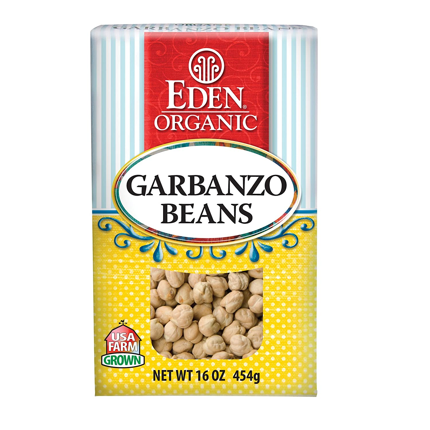 Eden Organic Garbanzo Beans, 16-Ounce Boxes (Pack of 6)