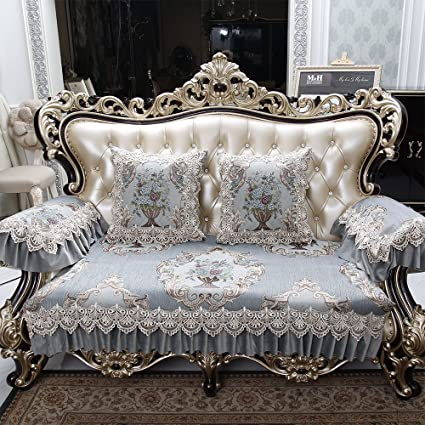 European Sofa Protector Non Slip Sofa Pad Fabric Lace Sofa Cover Sold By  Piece Rather