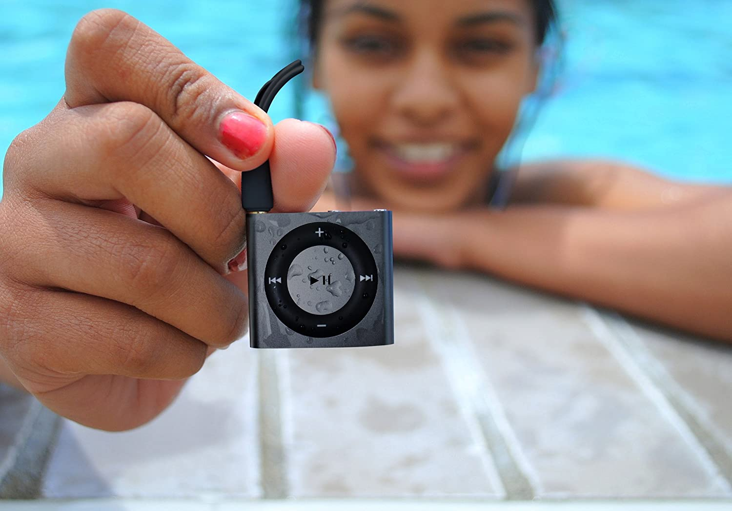 and Fitgoo Underwater Audio 100/% Waterproofing Compatible with iPod Shuffle Swimbuds Flip Space Gray AquaGuard