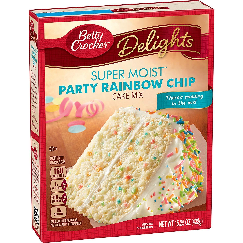 Surprising Amazon Com Betty Crocker Delights Super Moist Party Rainbow Chip Personalised Birthday Cards Beptaeletsinfo