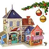 Robotime la Casa di Legno 3d Degli Enigmi Musicali Britannici Woodcraft Kit Negozio di Bricolage Regalo di Compleanno di Tipo Globale Casa Natale