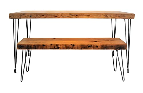 Handmade Reclaimed Wood Dining Table Salvaged Barn wood 1.65 Inches Thick 24 Inches Wide FREE SHIPPING