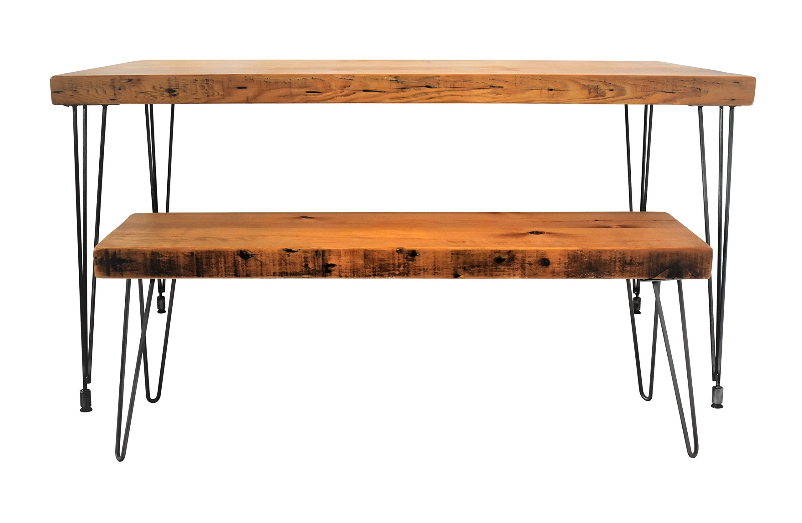 Handmade Reclaimed Wood Dining Table | Salvaged Barn wood | 1.65 Inches Thick | 24 Inches Wide | FREE SHIPPING -  - kitchen-dining-room-furniture, kitchen-dining-room, kitchen-dining-room-tables - 813Au4XAchL -