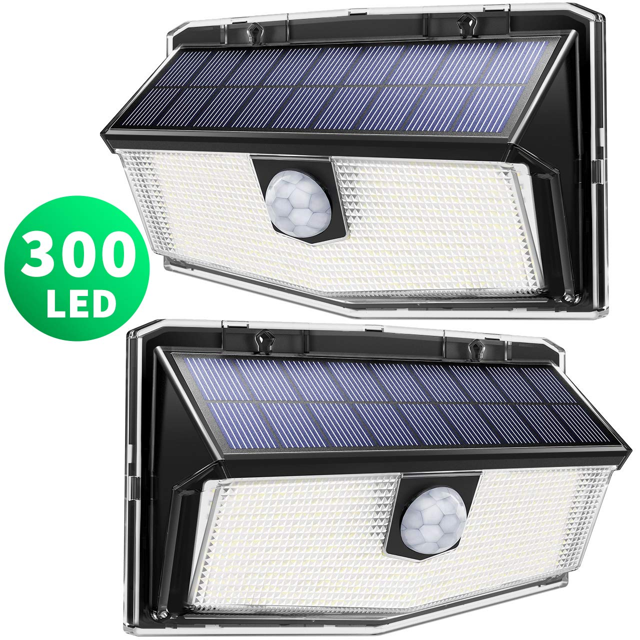 Mpow 300 LED Lampe Solaire Ext/érieur Puissante /Étanche IPX7 Lumi/ère S/écurit/é de D/étecteur de Mouvement PIR Sensible /à Grand Angle 270/° en Appliqu/ée Mur Cour Terrasse Entr/ée Parking All/&eacu
