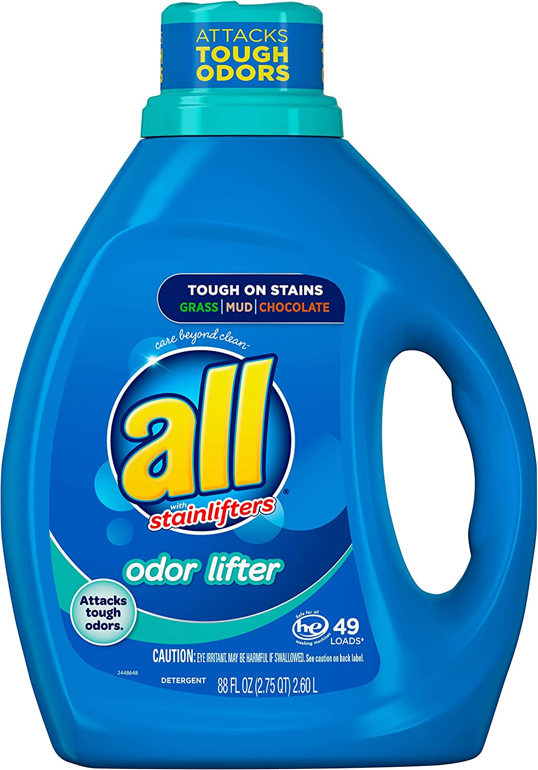 All Liquid Laundry Detergent, Odor Lifter, 49 Loads, 88 Fluid Ounce