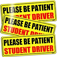 BOKA Student Driver Magnet for Car, Upgraded Please Be Patient New Driver Safety Signs,Teen Rookie Novice Driver Vehicle…