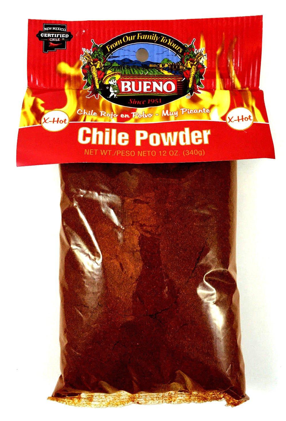 Bueno Red Chile Powder, X-HOT, 12oz. Bag