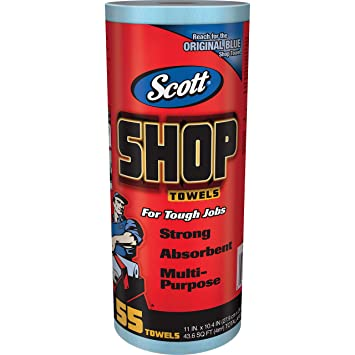 Scott 75130 - Pack de 55 toallas multiuso, color azul