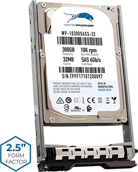 "New Dell PowerEdge R820 300GB 10K SATA 2.5/"" Hard Drive 1 Year Warranty"