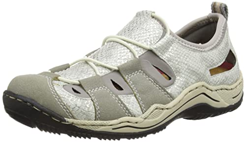 Rieker Damen L0561 Women Low top Sneakers, schwarz, 36,5 EU