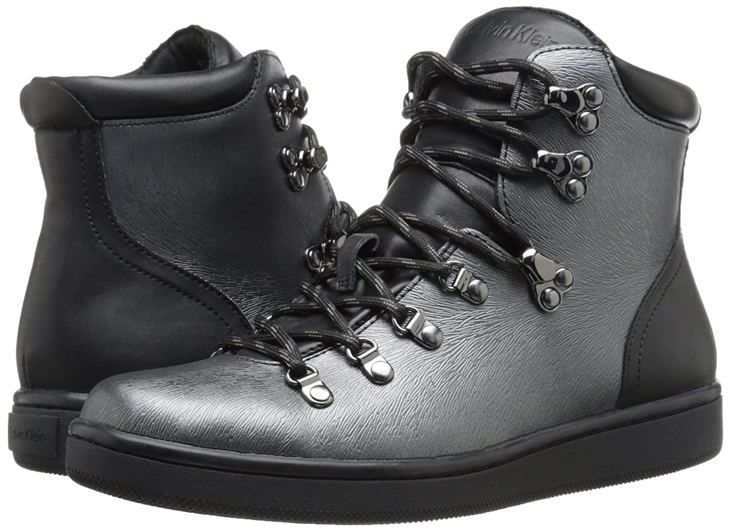 Womens Boots Calvin Klein Dita Pewter/Black Leather