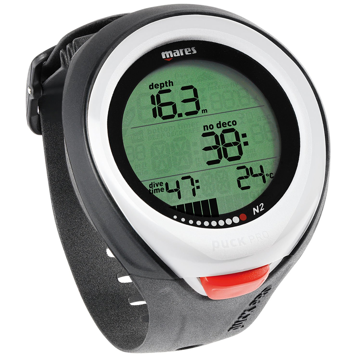 Mares Puck Pro Scuba Computer - White by Mares