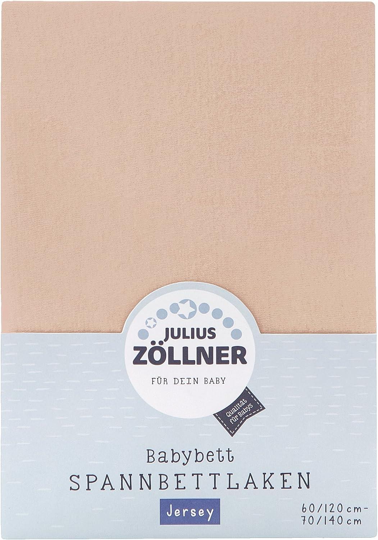 Julius Z/öllner Drap housse tissu /éponge lit enfant Couleur 60 x 120 cm//70 x 140 cm Taille abricot