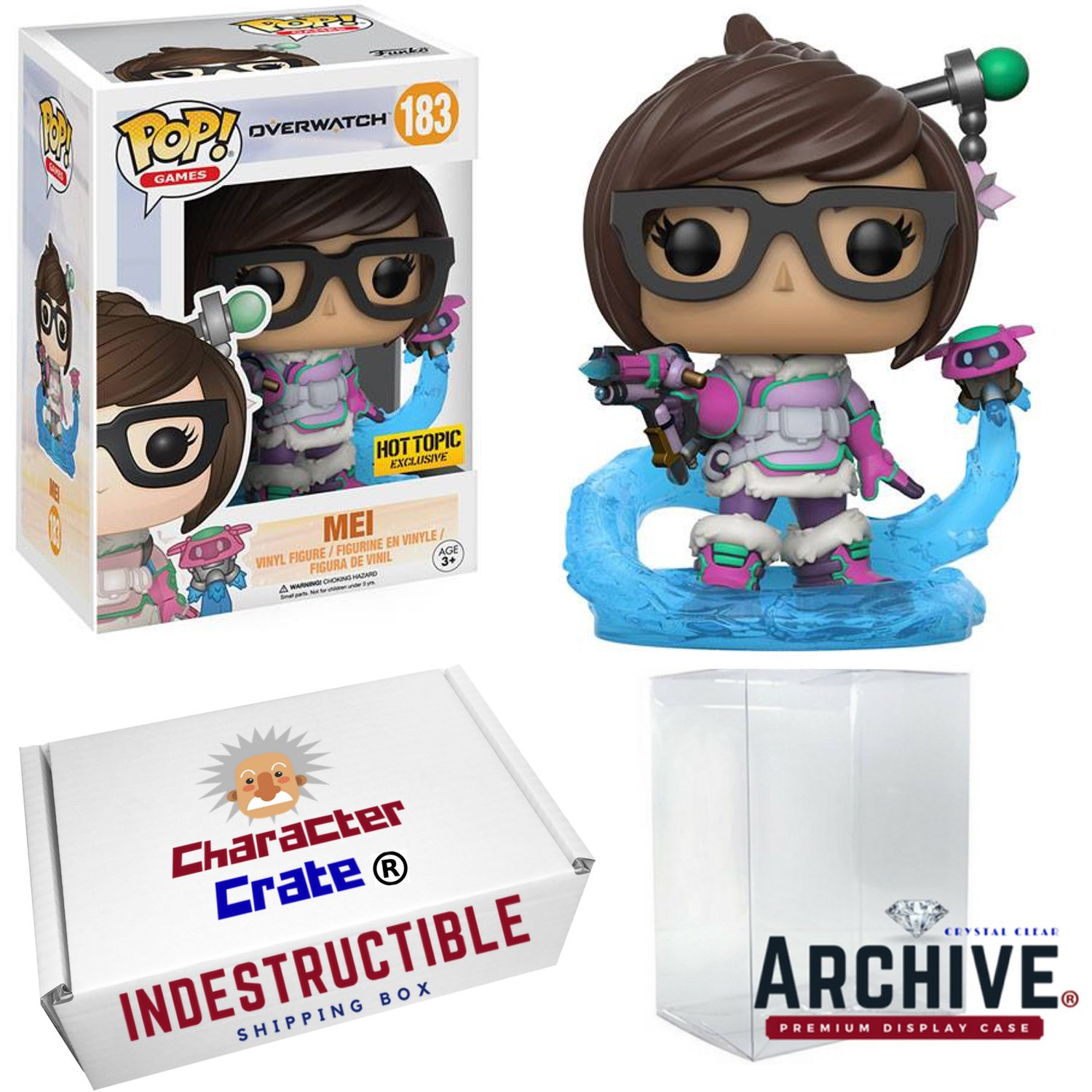 Amazon.com: Funko Pop! Overwatch Mei With Endothermic Blaster & Mid ...