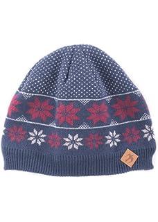 2b0b7fdcc79 Alice Hannah Frankie Hearts Fairisle Knitted Beanie Hat  Amazon.co ...