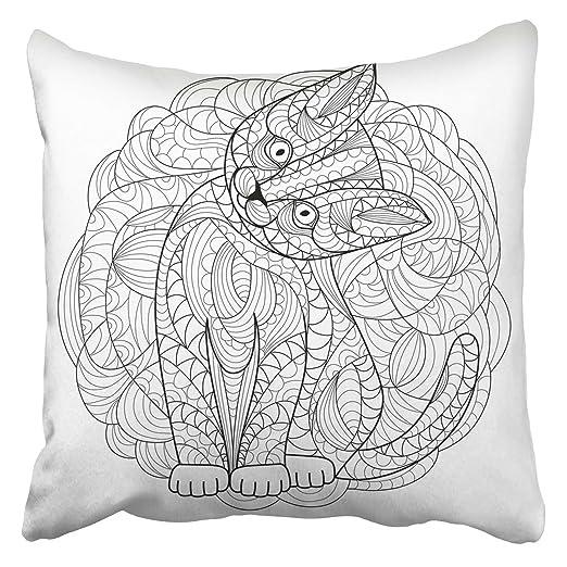 Emvency - Fundas de Almohada Decorativas para Libros, Gatos ...