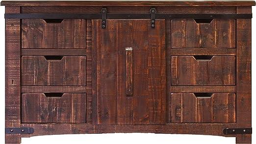 RR Anton - Consola de Puerta corredera rústica, Acabado Natural, 152 cm: Amazon.es: Juguetes y juegos