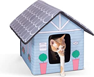 K&H PET PRODUCTS Outdoor Kitty House Designer Cat Shelter Heated or Unheated
