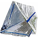 BlizeTec Emergency Bivvy Mylar Thermal Survival Blanket and Tube Tent with Mini Carry Bag