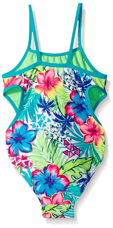 Breaking Waves Girls  Cutie One Piece Swimsuit