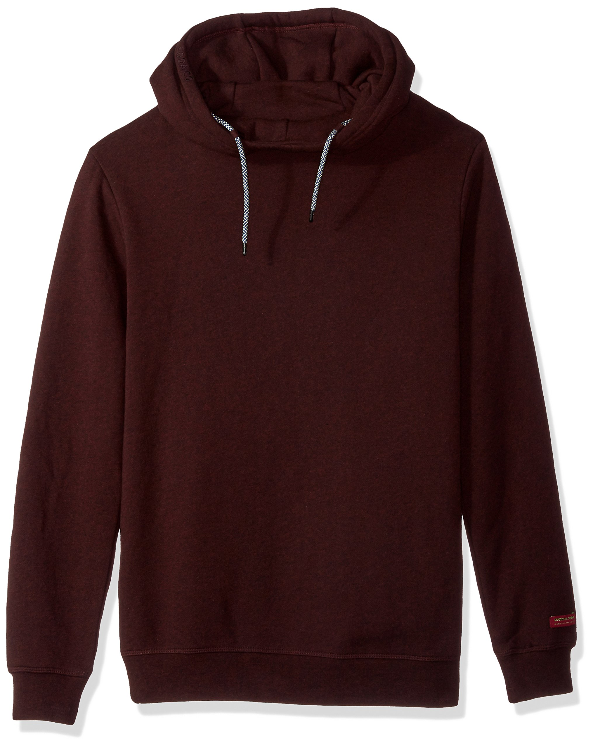 Scotch & Soda Men's Hooded Sweat In Brushed Felpa Quality With Contrast Inside, Combo b, L