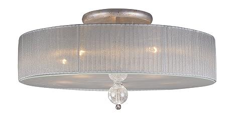 Amazon.com: Iluminación Elk 20006/5 Alexis 5 luz Semi-Flush ...
