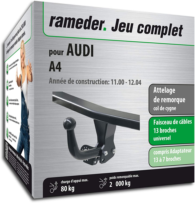 Faisceau 13 Broches Rameder Attelage d/émontable avec Outil pour Audi A4 164102-04731-1-FR