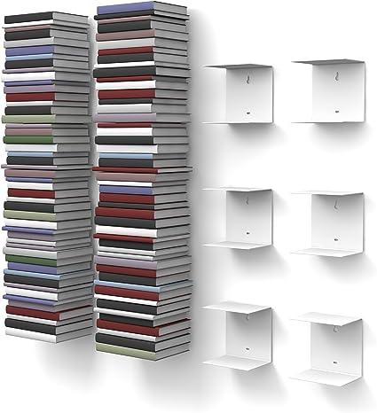 Estanterías para Libros Invisibles, 6 Unidades con 12 repisas ...