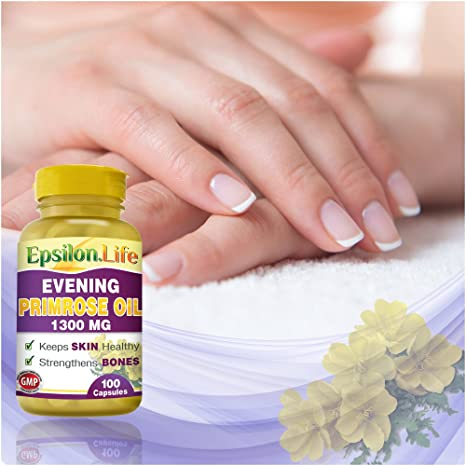 Amazon.com: Epsilon Evening Primrose Oil 1300mg (100 Capsules) by Epsilon: Health & Personal Care