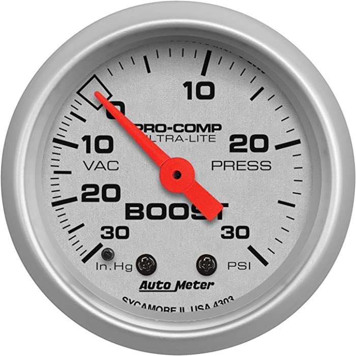 Auto Meter 4303 Ultra-Lite Mechanical Boost/Vacuum Gauge